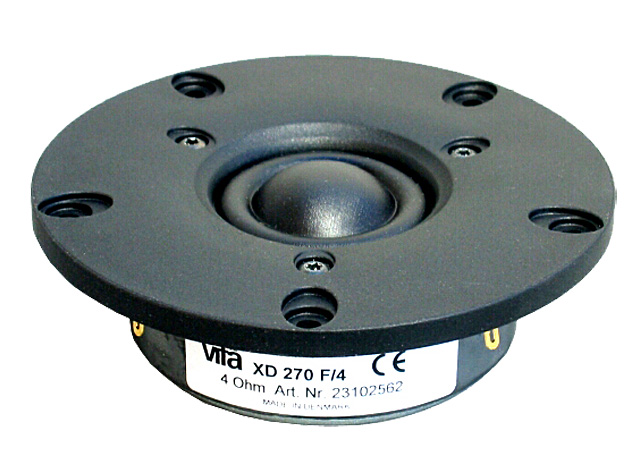 "<span class = ""entry-title-primary""> Peerless DX25TG09-04 Test (Vifa XD-270 F / 4) <span class = ""entry-subtitle""> Dome tweeter 4 Ω </ span>"